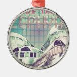 Ride The Zephyr Vintage Nostalgia 1949 Round Metal Christmas Ornament