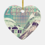 Ride The Zephyr Vintage Nostalgia 1949 Double-Sided Heart Ceramic Christmas Ornament
