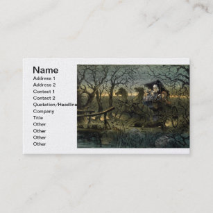 ride through presidential haunted forest keppler business card