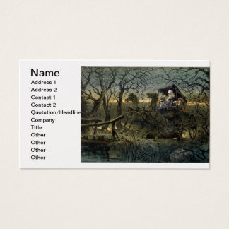 """Ride Through Presidential """"Haunted Forest"""" Keppler Business Card"""