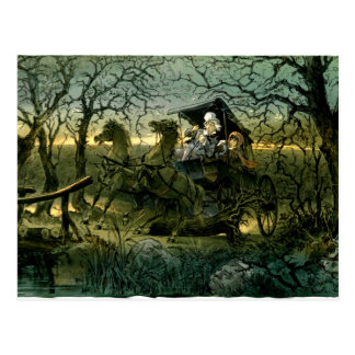 "Ride Through Presidential ""Haunted Forest"" Keppler Postcard"