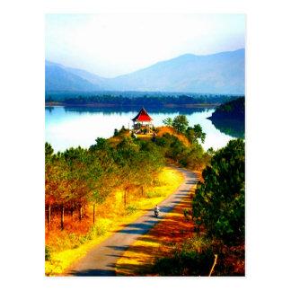 Ride to beauty peace joy postcard