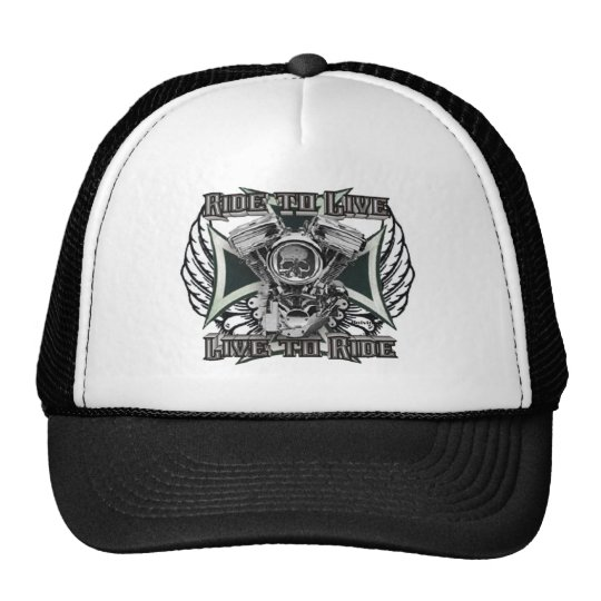 Ride to Live - Live to Ride Trucker Hat