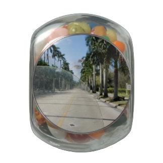 Ride to Sanibel Glass Candy Jar