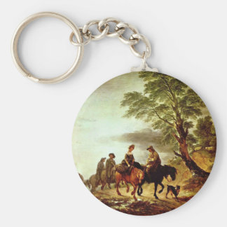 Ride To The Market By Thomas Gainsborough ( Key Chain