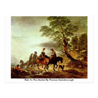 Ride To The Market By Thomas Gainsborough Postcard