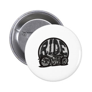 Ride Vintage Motorcycle Pinback Buttons