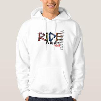 Ride Whistler Canada snowboard hoodie