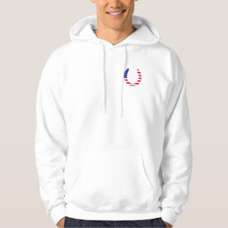 Ride White and Blue Hoodie