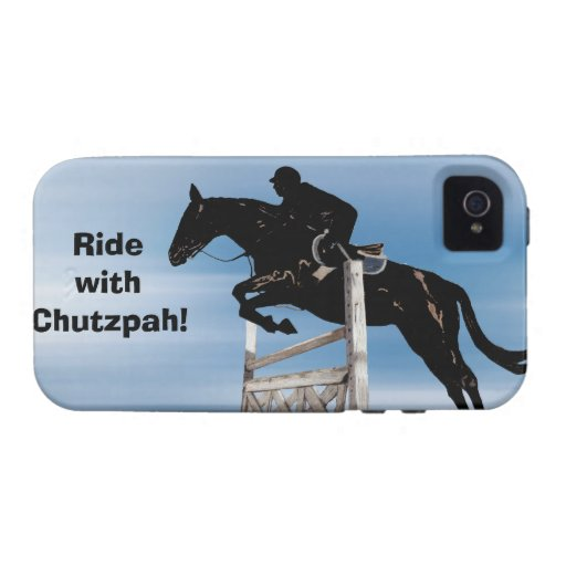 Ride with Chutzpah Horse Jumper iPhone 4 Case