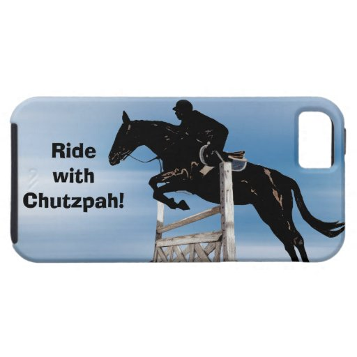 Ride with Chutzpah Horse Jumper iPhone 5 Case