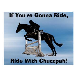Ride With Chutzpah Postcard