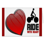 RIDE WITH HEART GREETING CARD