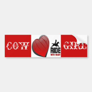 RIDE WITH HEART PRODUCTS BUMPER STICKER