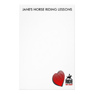 RIDE WITH HEART PRODUCTS STATIONERY