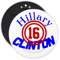 Ride With Hillary Clinton in 2016 6 Inch Round Button