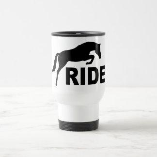 RIDE with Jumping Horse (black) Travel Mug