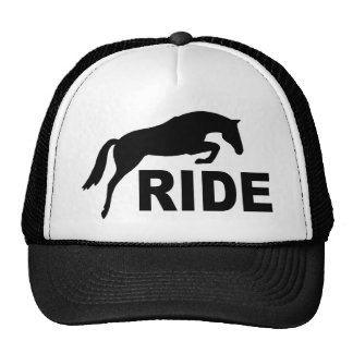 RIDE with Jumping Horse (black) Trucker Hat