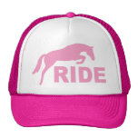 RIDE with Jumping Horse (pink) Trucker Hat