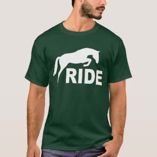 RIDE with Jumping Horse (white) T-Shirt