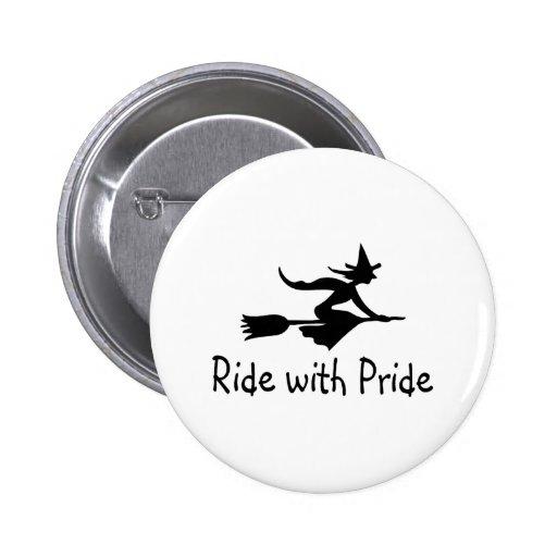 Ride With Pride 2 Inch Round Button