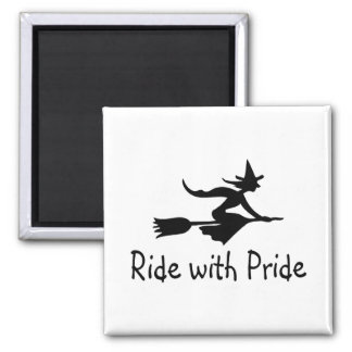 Ride With Pride 2 Inch Square Magnet