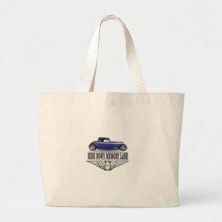 ride with pride blue large tote bag
