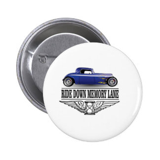 ride with pride blue pinback button