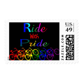 Ride With Pride Gay Lesbian Cyclist Gifts Stamp