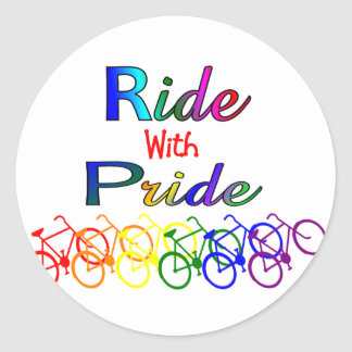 Ride With Pride Gay Lesbian Cyclist Gifts Sticker