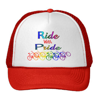 Ride With Pride Gay Lesbian Cyclist Gifts Trucker Hat
