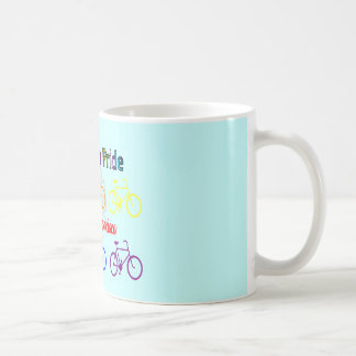 ride with pride SF--Gay Lesbian cyclist Coffee Mug