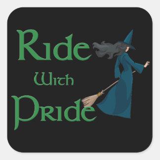 Ride with Pride Square Sticker