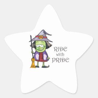RIDE WITH PRIDE STAR STICKER