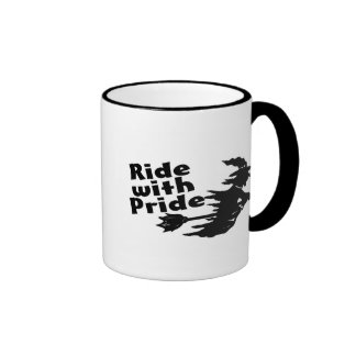 Ride With Pride Witch Ringer Coffee Mug