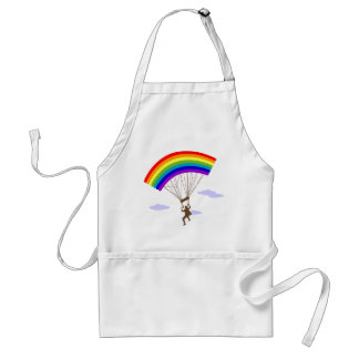 Ride with rainbow Apron