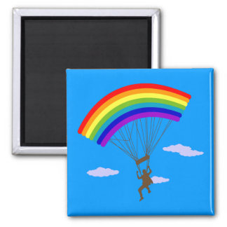 Ride with rainbow Magnet