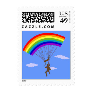 Ride with rainbow Postage