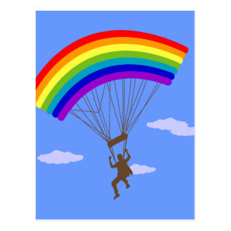 Ride with rainbow Postcard