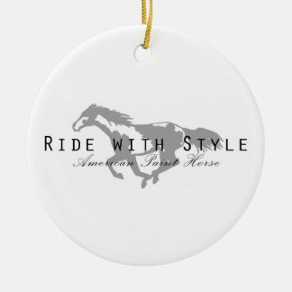 Ride with Style Ceramic Ornament