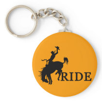 RIDE with the cowboy Keychain
