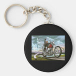 Ride With the Wind Basic Round Button Keychain