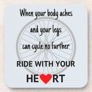 Ride with your heart motivation coaster