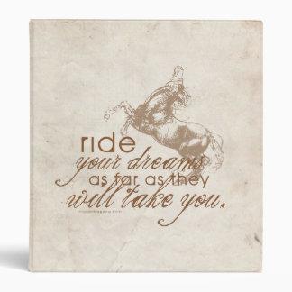 Ride Your Dreams Vinyl Binders