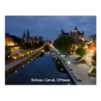 Rideau Canal and Sussex Drive at night. Post Card