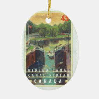 Rideau Canal Ceramic Ornament