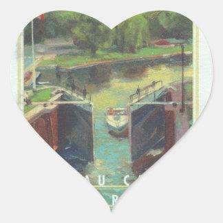 Rideau Canal Heart Sticker