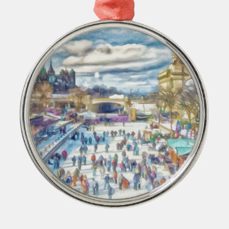 Rideau Canal Ottawa Canada Metal Ornament