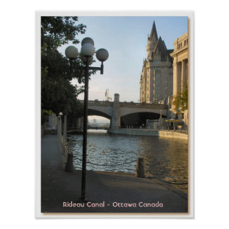 Rideau Canal - Ottawa Canada Poster
