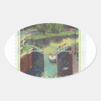 Rideau Canal Oval Sticker